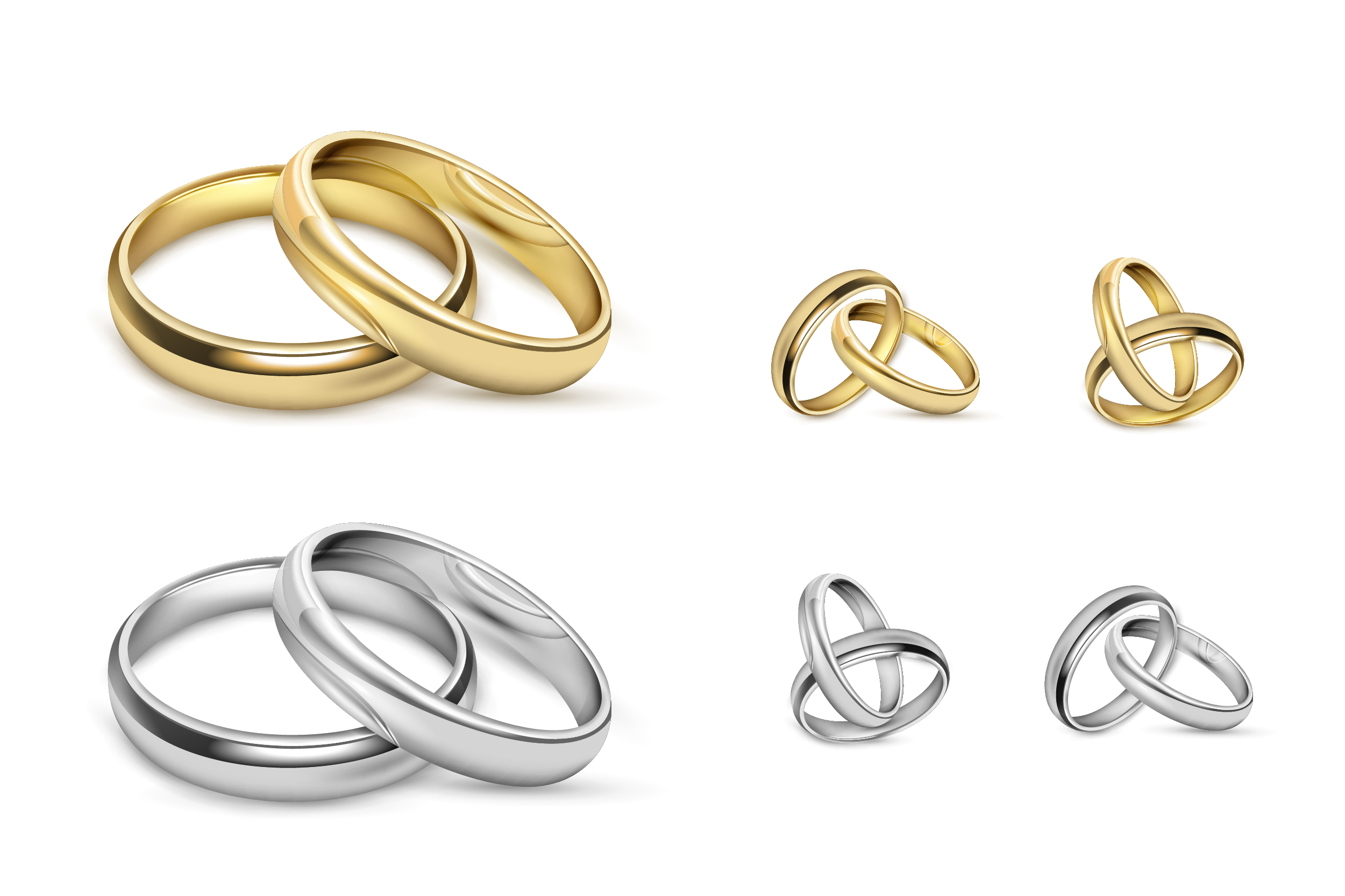 silver vs gold couple rings