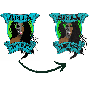 Two Pictures Showing embroidery Digitizing Quality by ZDigitizing