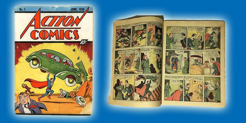 action comic book