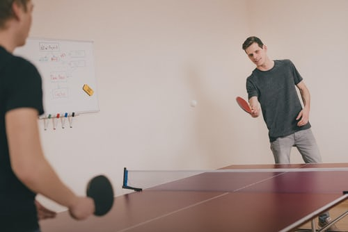 game of table tennis